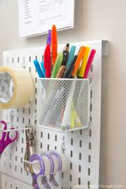 hanging homework station or craft station make it and love it