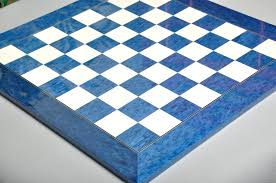 blue erable and bird u0027s eye maple chess board house of staunton