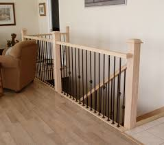 home interior railings decor light wooden flooring design ideas with stair rails plus
