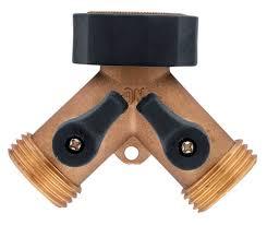 amazon com orbit brass hose y valve 58249 hydraulic valves