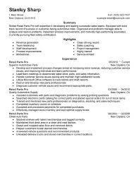 Sample Resumes For Retail by Unforgettable Retail Parts Pro Resume Examples To Stand Out