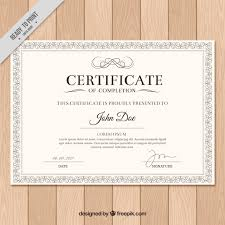 examples of certificates of completion certificate vectors photos and psd files free download