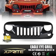 jeep eagle 2016 front matte black eagle eye grill grille grid for 2007 2017 jeep