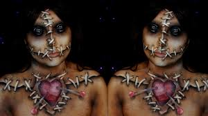 Youtube Halloween Makeup by Voodoo Doll Halloween Makeup Tutorial Youtube