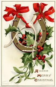 ellen clapsaddle vintage christmas postcard antique horseshoe