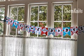 Welcome Home Banners Printable by Chemknits Dr Seuss Baby Shower Banner Free Printable