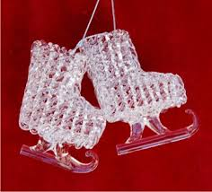 spun glass skates personalized ornaments by