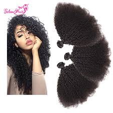 human hair extension seleonhair human hair extensions afro curly 3 bundles