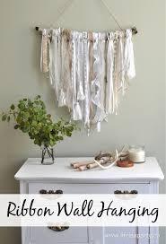 diy home decors ribbon wall hanging easy diy project diy home decor pinterest