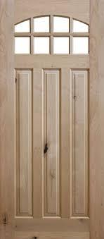 Slab Exterior Door 8 0 Premium Knotty Alder 8 Lite Wood Door Slab Knotty