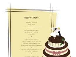 wedding menu design free vectors ui download