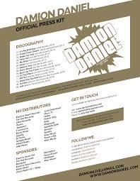 Radio Personality Resume Bio Damion Daniel