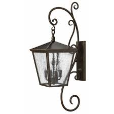 outdoor large scale wall light by hinkley lighting 1436rb