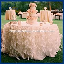 wedding table linens for sale cl010l cheap sale elegant polyester organza round ruffled curly