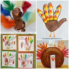 20 ways to create thanksgiving handprint and footprint crafts