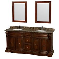 24 Bathroom Vanity With Granite Top by Roxbury 72 Inch Double Bathroom Vanity In Cherry Baltic Brown