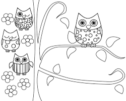 owl coloring book page owl coloring pages printable free only