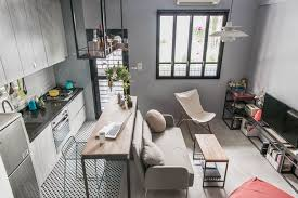 tiny small tiny studio apartment with loft bed for a single woman in taiwan