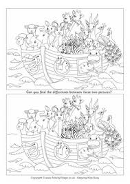 noah u0027s ark find the differences 2nd grade pinterest noah ark