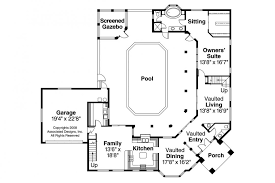 courtyard garage house plans modern courtyard houses mexican style house plans with floors pool