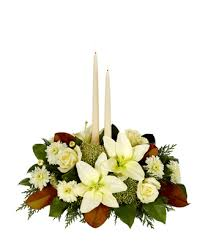 White Christmas Centerpieces - christmas centerpieces christmas flower centerpieces