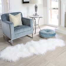 Fur Runner Rug Snow White Mongolian Sheepskin Fur Floor Runner Rug Eluxury Home