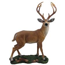 amazon com decorative big buck statue in rustic lodge sculptures