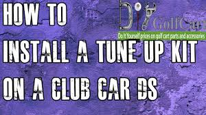 club car ds tune up kit starter drive belt how to install on