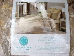 24 Piece Comforter Set Queen Martha Stewart Shangri La 24 Piece Queen Comforter Set Tan Taupe