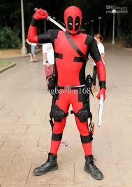 Deadpool Halloween Costume Party Double Color Fancy Dress Party Lycra Spandex Zentai Costume