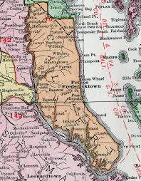 Maryland Map Calvert County Maryland Map 1911 Rand Mcnally Prince