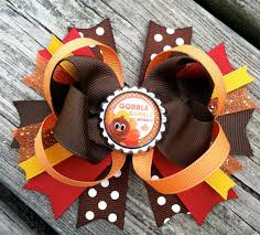 thanksgiving hair bows items similar to thanksgiving hair bow boutique style fall autumn