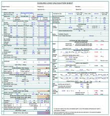 heat load calculator spreadsheet 28 templates cooling and
