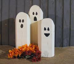 reclaimed wood ghosts rustic halloween decor rustic halloween
