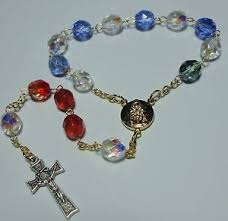 single decade rosary new handmade in the usa eucharistic miracle of lanciano single