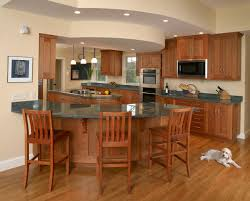 Natural Cherry Shaker Kitchen Cabinets Curved Kitchen Islands With Seating 150x150 Dovetail