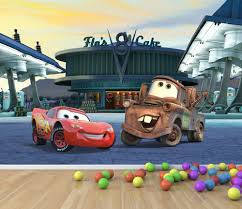 cars flos cafe with mater and mcueen full wall mural temple sku part1118 cars flos cafe with mater and mcueen full wall mural is also sometimes listed under the following manufacturer numbers carsw001l carsw001m