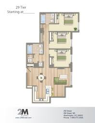 Best 3 Bedroom Floor Plan by Three Bedroom Floor Plan 2m Street In Northeast Washington Dc