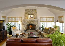 leather sofa fabric chairs living room rustic with curtains nature