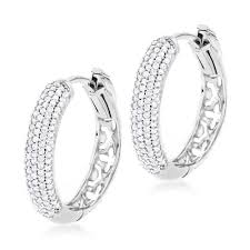 small diamond hoop earrings small diamond hoop earrings 0 5ct 14k gold