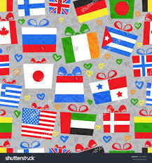 seamless pattern gifts around world stock vector 120118825