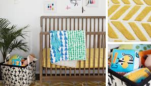 Teal And Gold Rug Neutral Nursery Design U0026 Inspiration The Land Of Nod