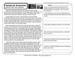reading and comprehension worksheets for grade 4 worksheets