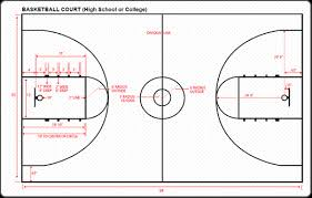 14 half court basketball template 2 adonis outline basketball