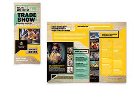 builder u0027s trade show brochure template design