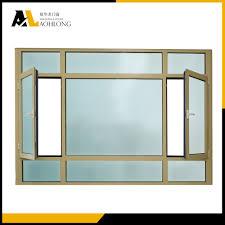 thermal break aluminum casement window with double glazing china