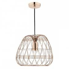 wire pendant light fixtures contemporary copper wire work ceiling pendant with copper suspension