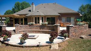 backyard patios outdoor with pavers landscaping for small