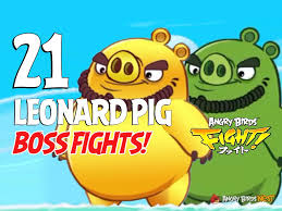 angry birds fight leonard pig boss fights angrybirdsnest