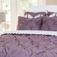 Textured Duvet Cover Sets The Valencia Plum Purple Pintuck Plum Purple Bedding Decor And